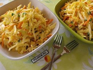 Салат с сельдереем, капустой и орехами