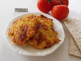 Куриные блинчики с сыром