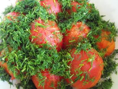 соленые помидоры быстрого приготовления кусочками рецепт