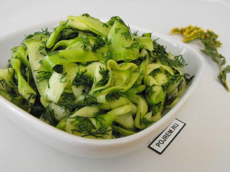 маринованные кабачки рецепт салат