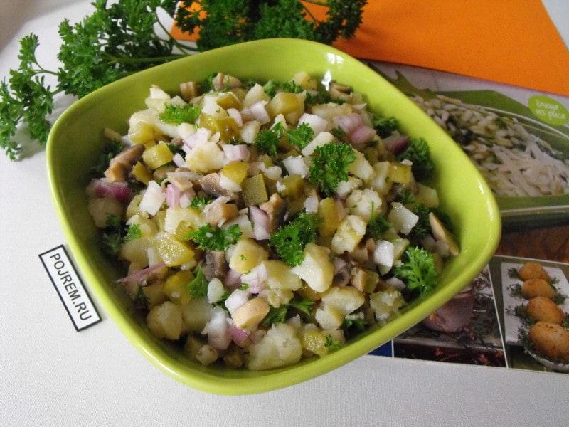 салат из капусты с шампиньонами рецепты и огурец