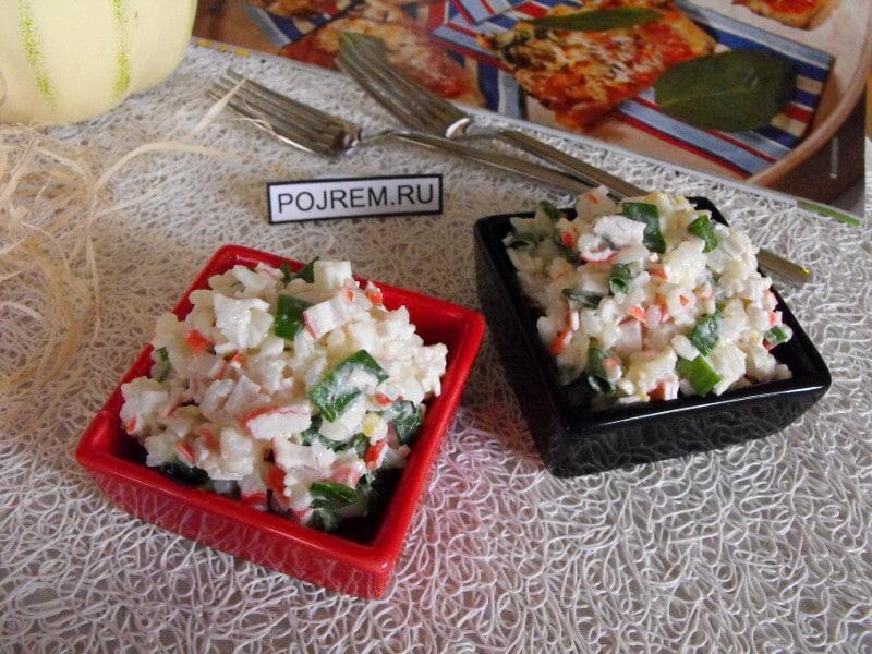 Рецепты салатов с крабовыми палочками и рисом