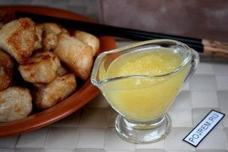 Желтый кисло-сладкий китайский соус