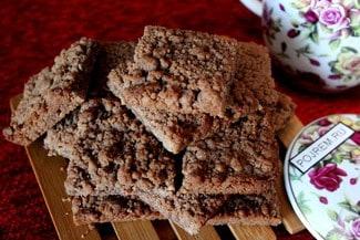 Постное шоколадное вишнёвое печенье