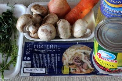 Вкусный салат с морским коктейлем - рецепт с фото - Своими 22