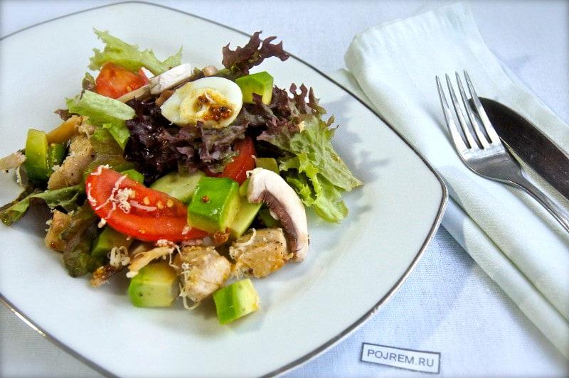 рецепт салата с курицей и свежими шампиньонами рецепт