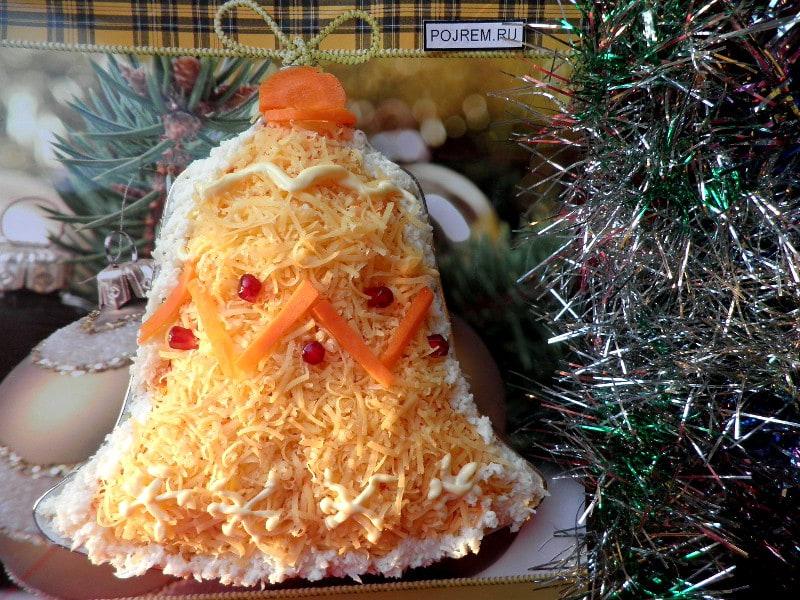новогодний салат колокольчик рецепт с фото