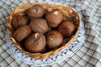 Шоколадные кексы со сладким сыром