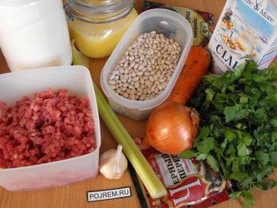 суп с фасолью с фаршем рецепт с фото в