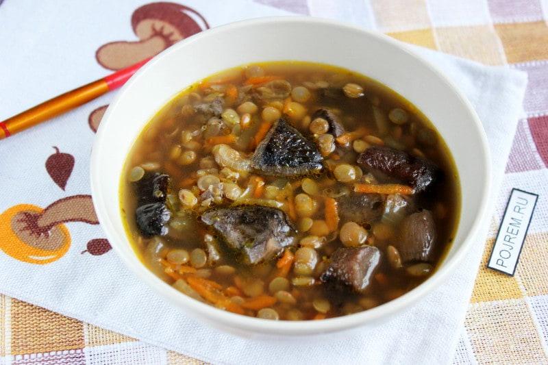 рецепт грибного супа из замороженных грибов с крупой
