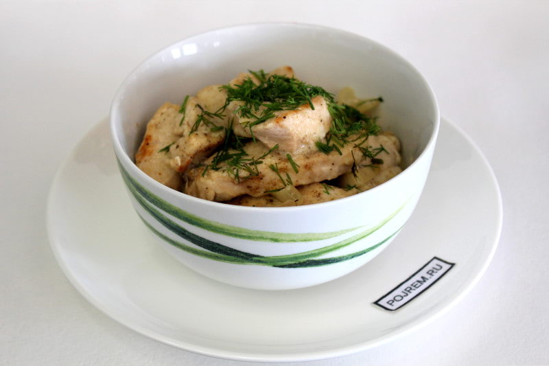 Пошаговый рецепт приготовления курицы в сметане солянка из опят рецепты приготовления