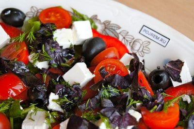Салат с сыром фетакса и помидорами рецепт