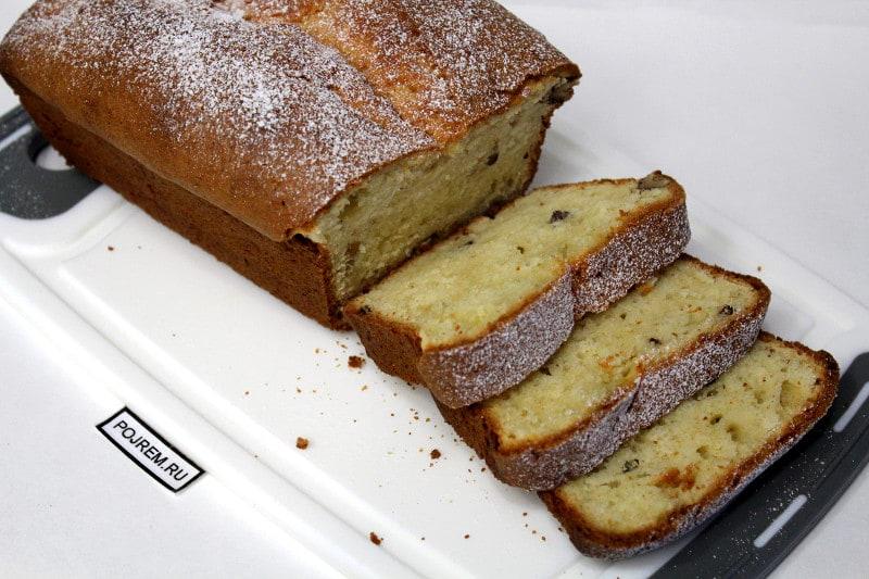 творожный кекс с орехами