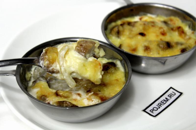рецепт приготовления жульена с грибами в духовке