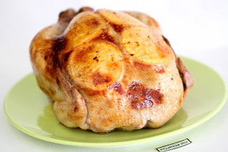 Курица, запеченная с рисом и апельсинами