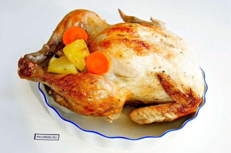 курица, запеченная в рукаве с хреном