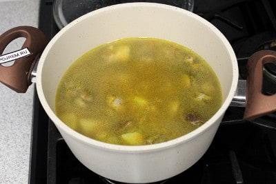 рецепт супа из отварных грибов