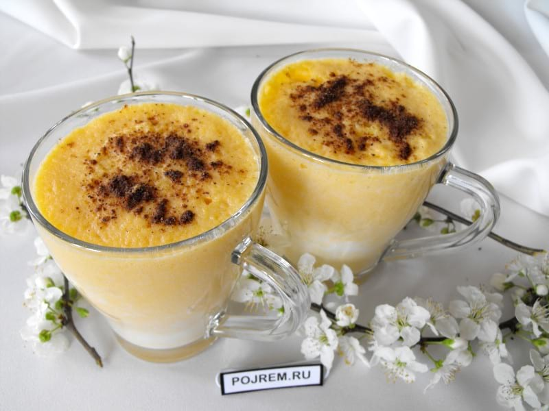 молочно-тыквенный коктейль