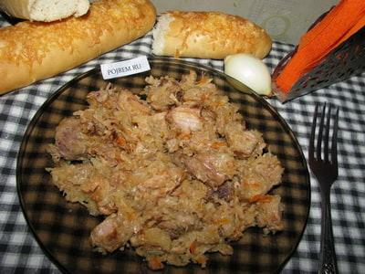 рецепт тушеной капусты с картошкой и курицей в казане