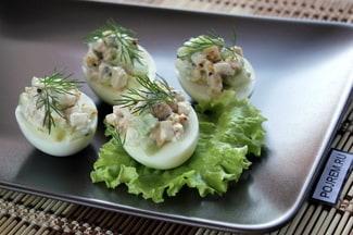 Яйца, фаршированные мясом