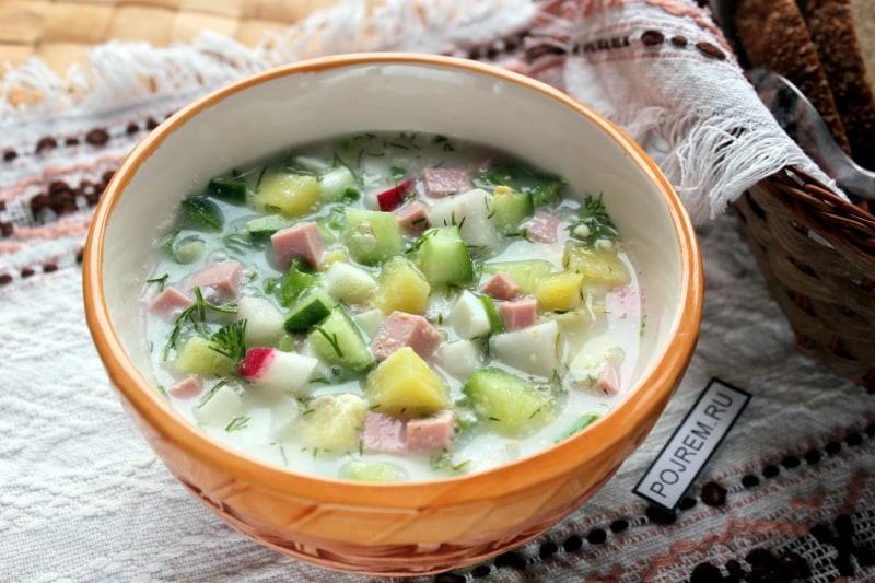 Салат с кефиром