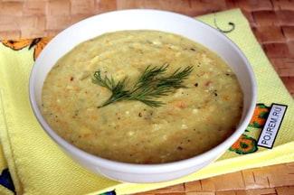 Суп с плавленным сыром