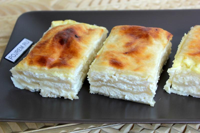 слоеное тесто и творог что можно приготовить