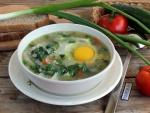 Суп с крапивой на мясном бульоне
