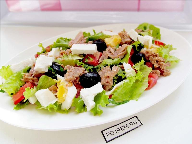 168Как сделать салат с тунцом рецепт пошагово