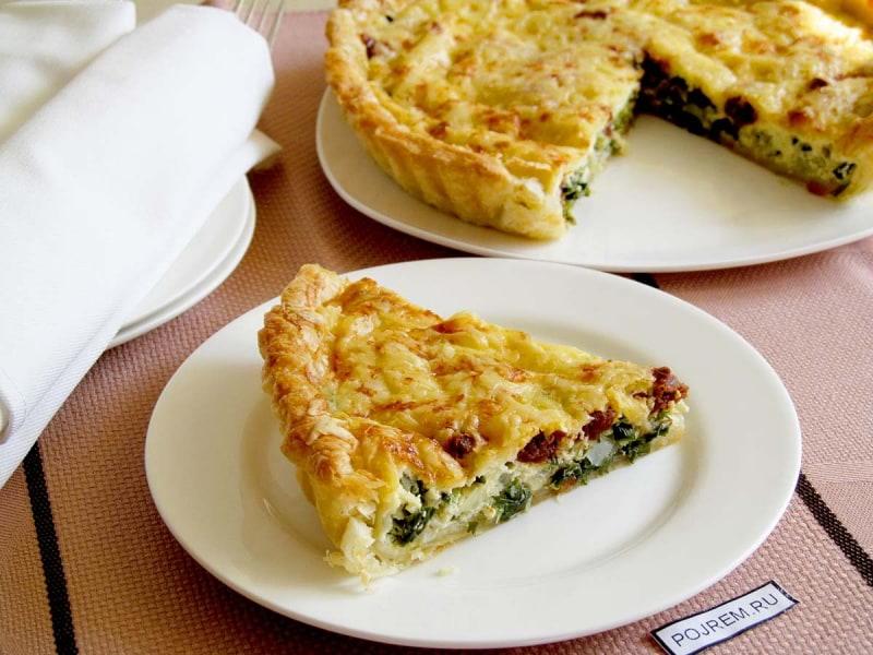 пирог с зеленым луком