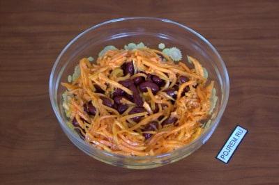 рецепт салата из моркови по корейски и фасоли