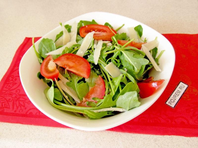 салат из осьминога и рукколы рецепт