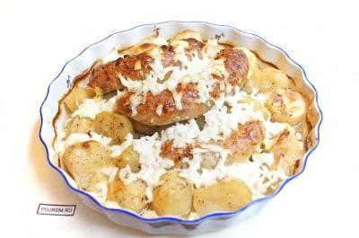 рецепт колбаски гриль с картошкой в духовке