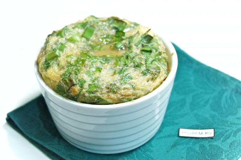 омлет с зеленью
