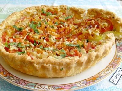 пицца с фаршем на слоеном тесте рецепт с фото