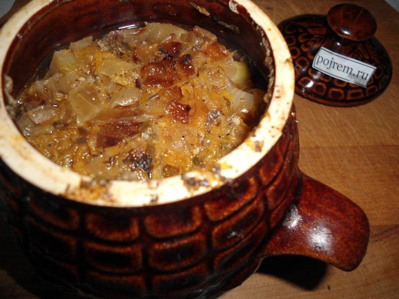 свинина с картошкой с грибами в горшочках в духовке рецепт с фото