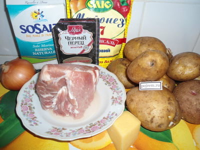 мясо с картошкой в духовке под сыром рецепт