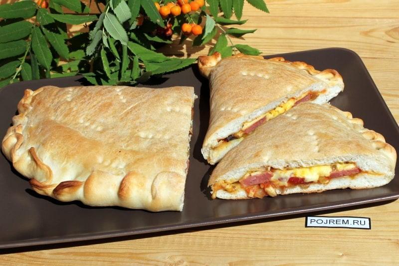 рецепт закрытой пиццы в духовке с фото