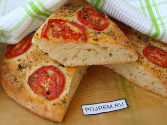 Лепёшка с помидорами