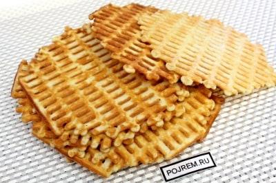 Рецепт вафель для электровафельницы хрустящие с фото