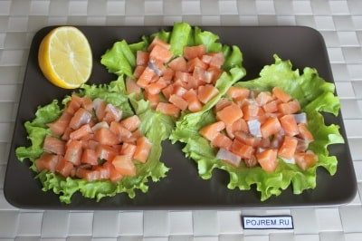 рецепты семги в духовке порционно