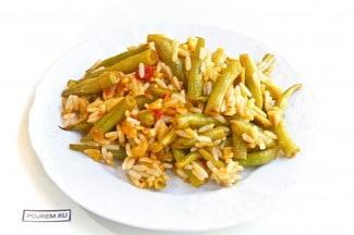 Фасоль с рисом