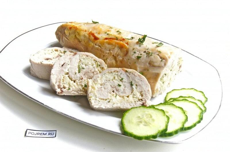 рецепт капусного рулета с сыром с фото