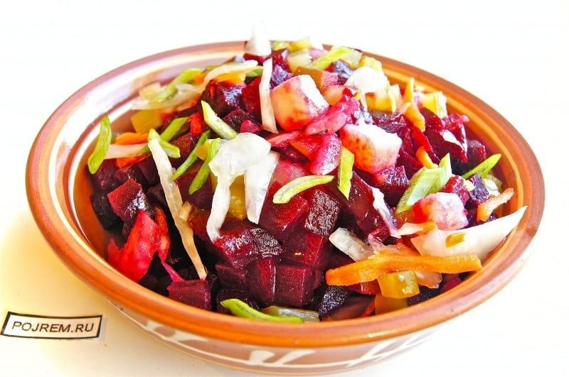 салат винегрет с капустой пошаговый рецепт с фото