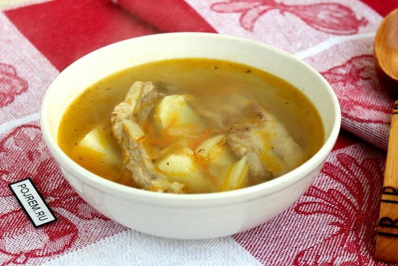 Суп из свиных ребер на костре — pic 2