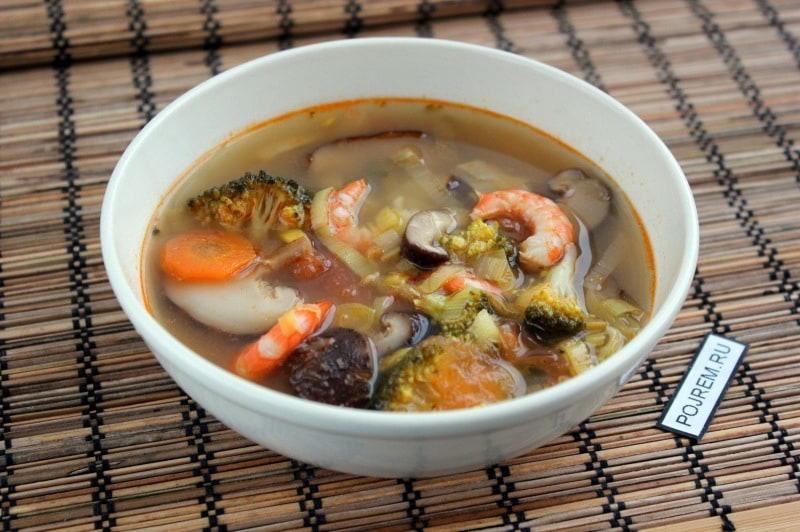 Суп тайский Том Ям рецепт фото