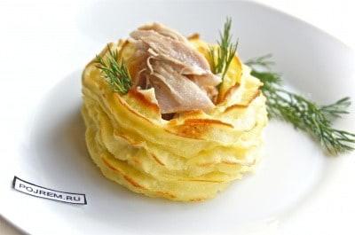 Картофельные корзиночки рецепт с