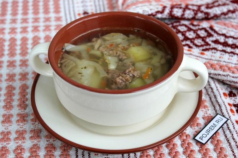 суп с фаршем