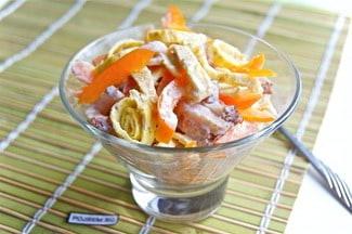 Салат с болгарским перцем и мясом