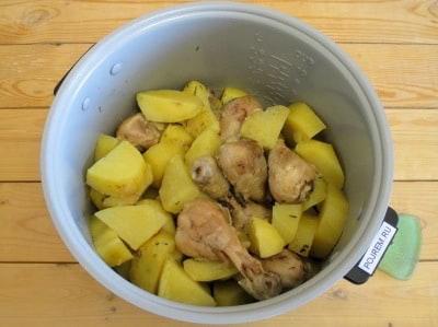 рецепт куриных ножек и картофеля в мультиварке